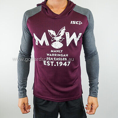 Manly Sea Eagles 2018 NRL Mens Warm Up Top (Sizes S - XL) *ON SALE NOW*
