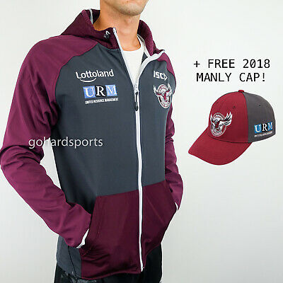 Manly Sea Eagles 2018 NRL Mens Tech Pro Hoody (Sizes S - L) *ON SALE NOW*