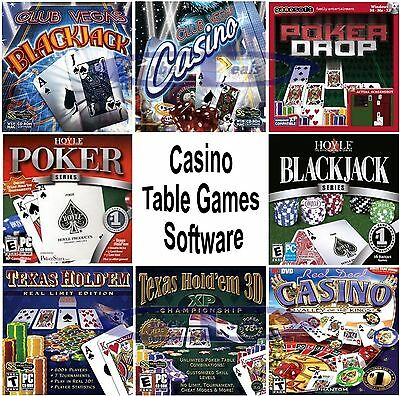 Casino Table Games Software PC Windows XP Vista 7 8 10 Sealed New