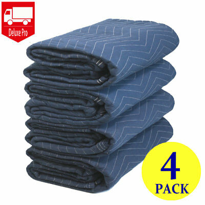 """4 Moving Blankets 80"""" x 72"""" (45 lb/dz)  Packing Quilted Shipping Furniture Pads"""