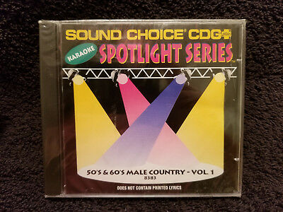 Sound Choice Karaoke CDG Spotlight Series 50's & 60's Male Country-Vol. 1 - 8383