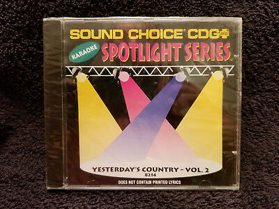 Sound Choice Karaoke CD+G Spotlight Series Yesterday's Country  - Vol. 2 - 8214