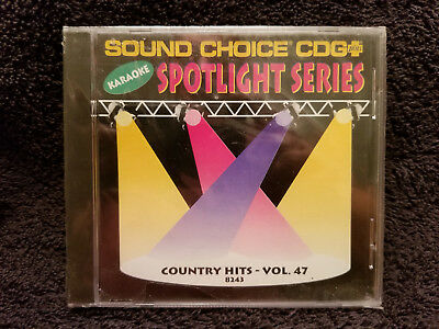 Sound Choice Karaoke CD+G Spotlight Series Country Hits - Vol. 47 - 8243 New!