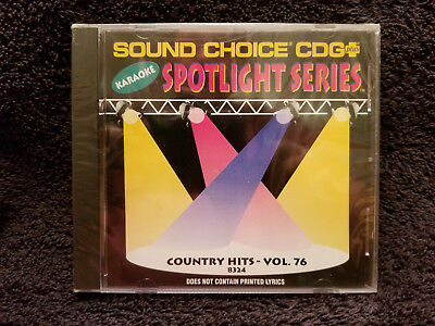 Sound Choice Karaoke CD+G Spotlight Series Country Hits - Vol. 76 - 8324 New!