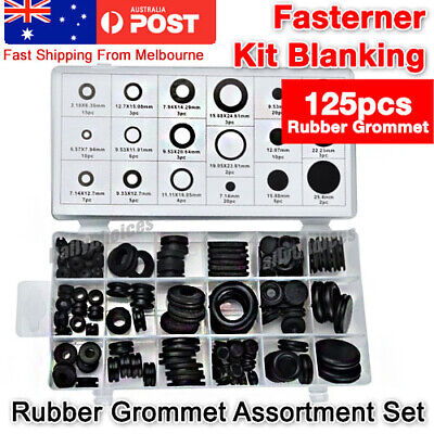 125× Rubber Grommet Firewall Hole Plug Set Electrical Wire Gasket Assortment Kit