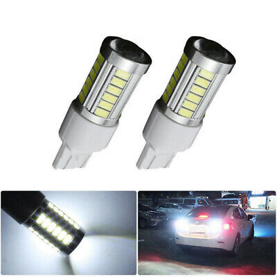 2Pcs T20 W21/5W 7443 7440 33SMD Car Backup Reverse LED Light Bulbs White 6000K