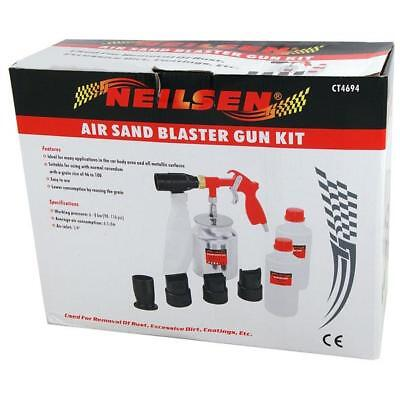 Air Sandblaster Gun Kit With 4 Different Nozzles - Rust Dirt Paint Removal