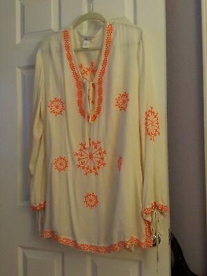 ef6f9a6172 LUCKY & COCO Womens Size L Embroidered Tunic Swimsuit Cover Up NEW ...