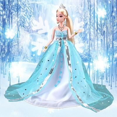 Beautiful Handmade Sequins Princess Party Dress Clothes For 30CM Doll#G