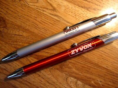 Lot Heavy Metal Aricept & Copper colored Zyvox Drug Rep Pens-Pharmaceutical
