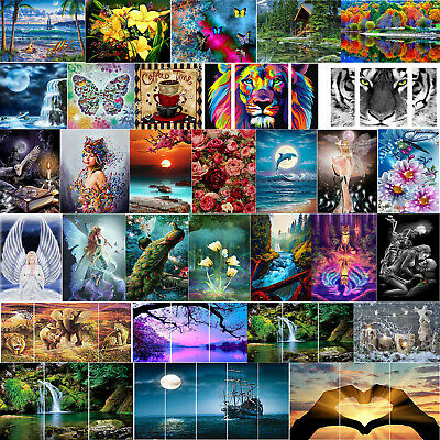 Full Drill 5D DIY Diamond Painting Cross Stitch Home Art Decor with Drawing Tool