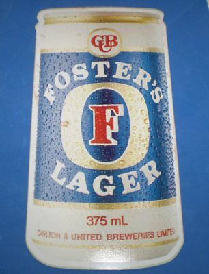Great old beer sticker- 23 cms high -Fosters Lager- For the mans shed