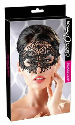 Cottelli Collection Accessoires Maske Stickerei schwarz Augenmaske Kostüm