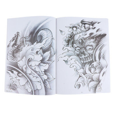 70Pages Dragon Crane Tattoo Flash Art Designs Manuscrit Sketch Line Book