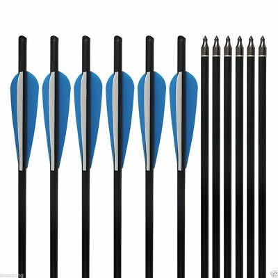 """12Pcs Carbon Arrows 20"""" Crossbow Bolts For Hunting Target Practice Archery Arrow"""