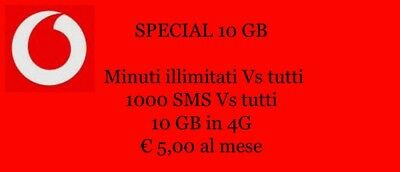 Coupon Vodafone - Special 10gb