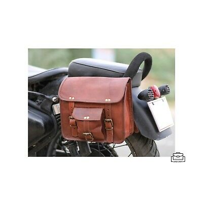 VintageLeatherCraft Motorcycle Leather Side Pouch 2 Vintage Saddle bags