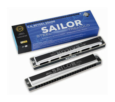 SEYDEL  & Söhne    Sailor Steel Tremolo Richter Mundharmonika - 26480 in C