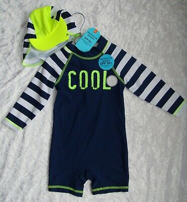 UV Beach/swimsuit and cap....AGE 6-9Mths....BNWT