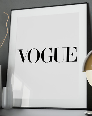 Vogue Fashion Logo Inspirational Quote Poster Art Print A3 A4 A5 A6 Decor Wall