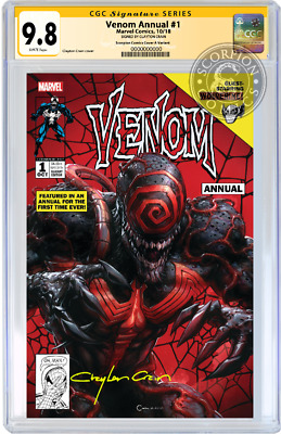 Venom Annual 1 Lethal Protector Variant Cgc 9.8 Ss Clayton Crain Pre-Sale Mint