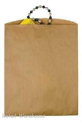 "1000 Paper Bags Kraft Flat 1000 Natural Retail Sales Merchandise 12"" x 15"""