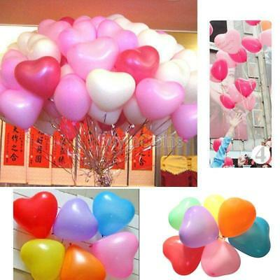 "Big Rainbow Mix 10"" Heart Shaped Biodegradable Balloons -Wedding, Party, Funeral"