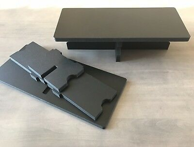 Black Collapsible Display Riser Perfect for Catering, Trade or Craft Shows