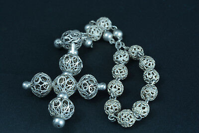 Rare Antique Crown of Rosary Rosary filigree sterling silver 19Thc one decade