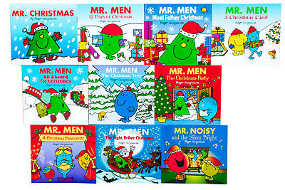 Mr. Men Christmas 10 Book Collection Roger Hargreaves, Mr. Christmas, Meet Fathe