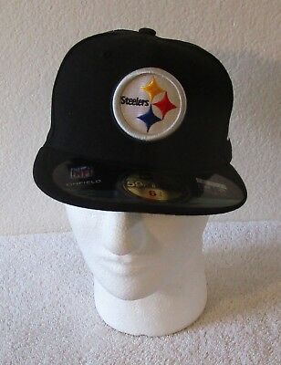 f93a790310d NWT New Era Pittsburgh Steelers 59Fifty Kids Fitted On Field Hat Cap Black   26