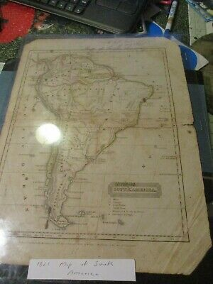 Antique Map 1821 Map of South America