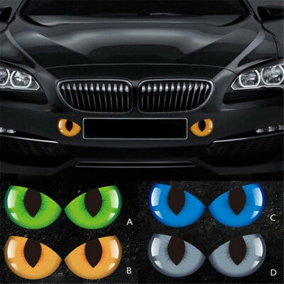 2pcs//set Lovely Reflective 3D Cat Eyes Rear View Mirror Side//Rear Window Sticker