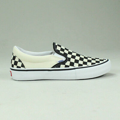 Vans Pro Slip-On Checkerboard Black White Trainers Sizes UK 4 1d1c5c2f3
