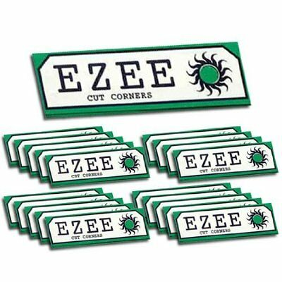 EZEE 1000 Ezee Green Cigarette Rizla Smoking Cut Rolling Papers ( 20 Booklets )
