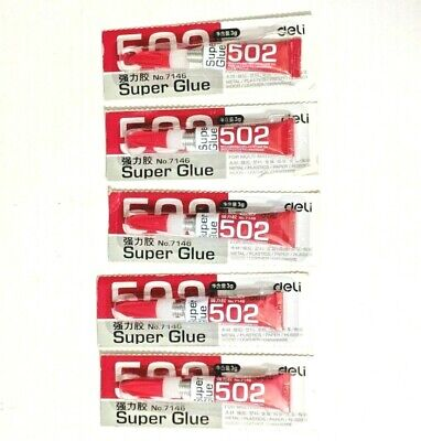 502 SUPER GLUE - 5pcs 3g  deLi No. 7146 BRAND NEW  S51/+