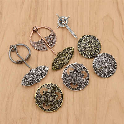 Celtic Viking Brooch Pin Badge Sword Compass Amulet Decor Party 1PC Men's Gift