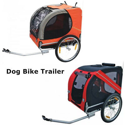 Folding Dog Bike Trailer Cat Carrier Bicycle Ride Pet Basket Trail