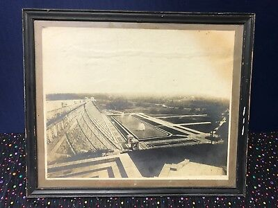 Original Early 1889's Lake Kensico Dam , NY Photo Picture Downstream Face Rare