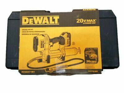 Dewalt DCGG571M1 20 Volt Cordless Grease Gun Kit Single Battery