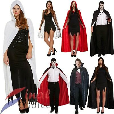 Adult Spider Velvet Hooded Devil Vampire Cape Cloak Halloween Fancy Dresses