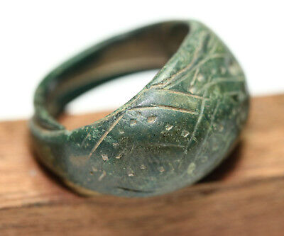 Viking Twisted Bronze  finger ring This is sorcerers ring
