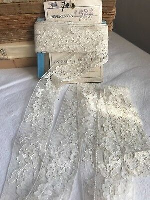 Antique Lace Floral Needlepoint Lace Vintage Wedding Period Costume & Dolls 4 yd