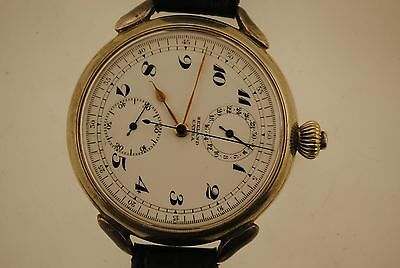 Seeland Extra Pocketwatch Style Wristwatch- Sterling- Stopwatch- 24Hr. Feature!!