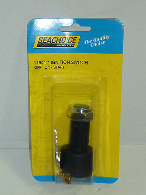 Seachoice 11641 Ignition Switch Inboard Boat Marine Off On Start 3 Position  New