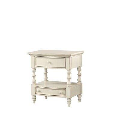 Comfort Pointe Shelton 2 Drawer Nightstand in Antique White