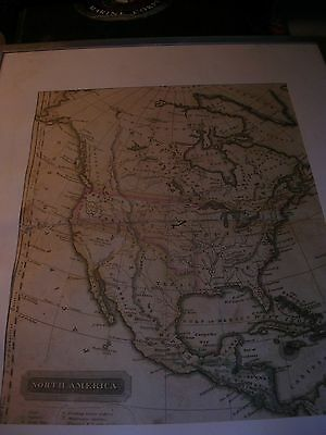 Antique Map 1821 Map of North America