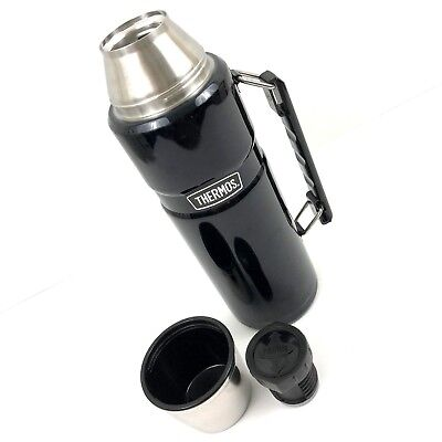 THERMOS SK2010MBTRI4 Stainless King Beverage Bottle Dark Blue 40 OZ