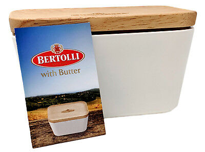Limited Bertolli White Butter Dish with Lid Melamine Dining Table Serving Bowl