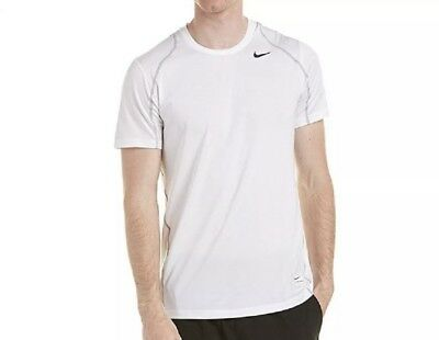 68ce3a9a NIKE MEN'S PRO Fitted Short Sleeve Shirt, White/Matte Silver/Black ...